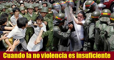 Cuando la no violencia es insuficiente