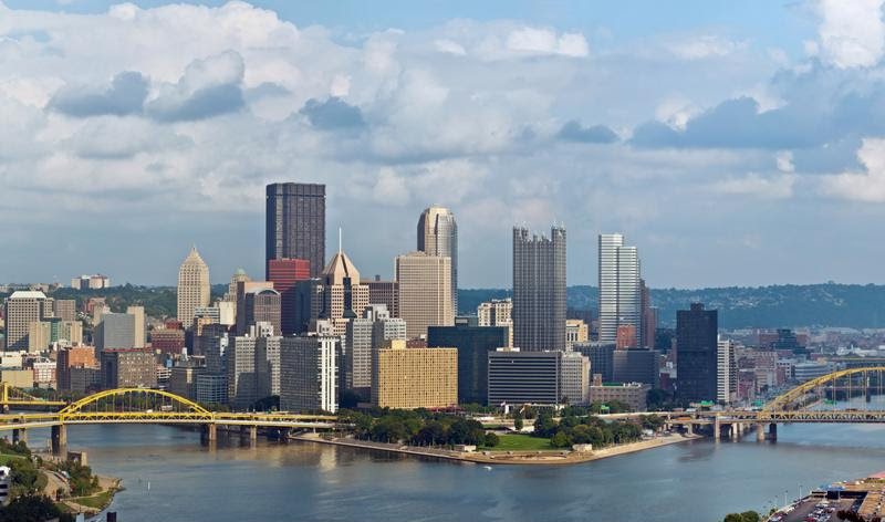 Point State Park is located in the heart of Pittsburgh, AKA the River City.