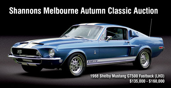1968 Shelby Mustang GT500 Fastback