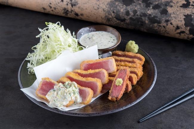 牛カツと鮪カツの相盛り膳:1,680円(+税)