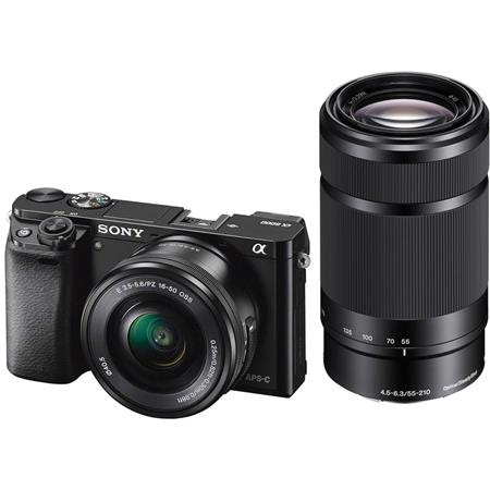 Alpha A6000 Mirrorless Camera with 16-50mm f/3.5-5.6 OSS & 55-210mm f/4.5-6.3 OSS Lenses,