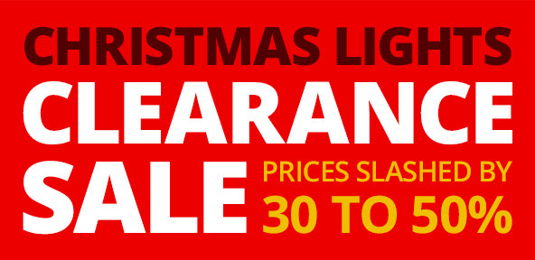 Save up to 30%-50% off christmas lights clearance sale at GraysOnline.com