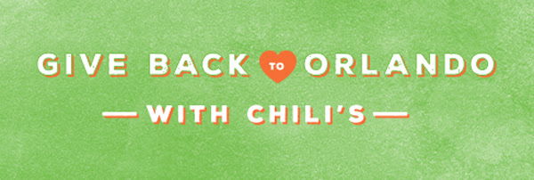 Come to Chili's on Tuesday, June 21 to donate 10% of your check to OneOrlando Fund.