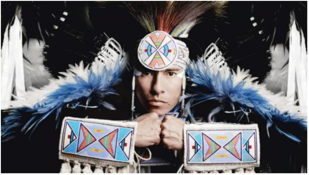 """Supaman is a Native American dancer and innovative hip-hop artist who has """"dedicated his life to empowering and spreading a message of hope, pride and resilience through his original art form."""""""