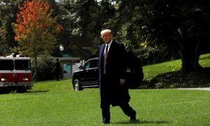 01/10/2020.- El presidente de EEUU, Donald Trump, en una rueda de prensa este jueves. EFE/Yuri Gripas