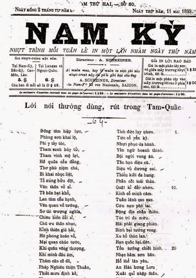 NAM KỲ NHỰT TRÌNH (Le Journal de Cochinchine) (1888-9)