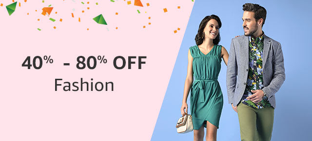 40% - 80% off Amazon Fashion