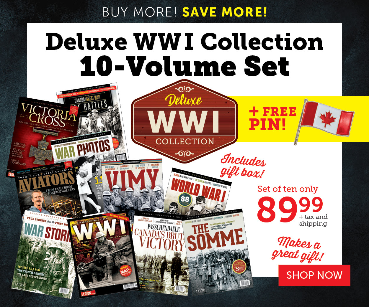 Deluxe WWI Collection 10-volume set