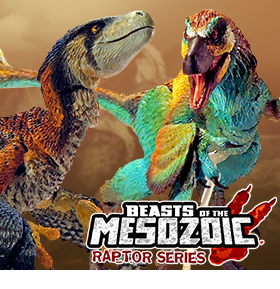 BEASTS OF THE MESOZOIC FIGURES AND ACCESSORIES