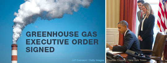 GHG Executive Order signed