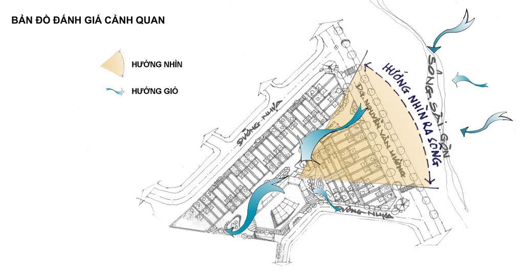 đánh giá cảnh quan Shophouse King Crown Village Thảo điền quận 2