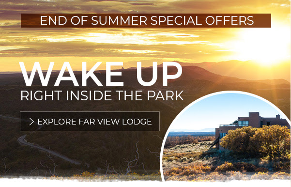 WAKE UP RIGHT INSIDE THE PARK - End of Summer Special Offers