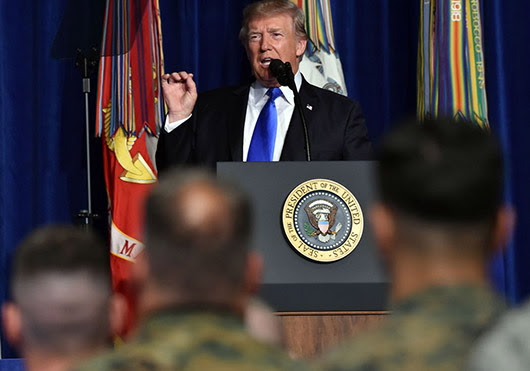 בילד: פרעזידענט טראמפ מעלדט נייעם צוגאנג צו אפגאניסטאנער קריג