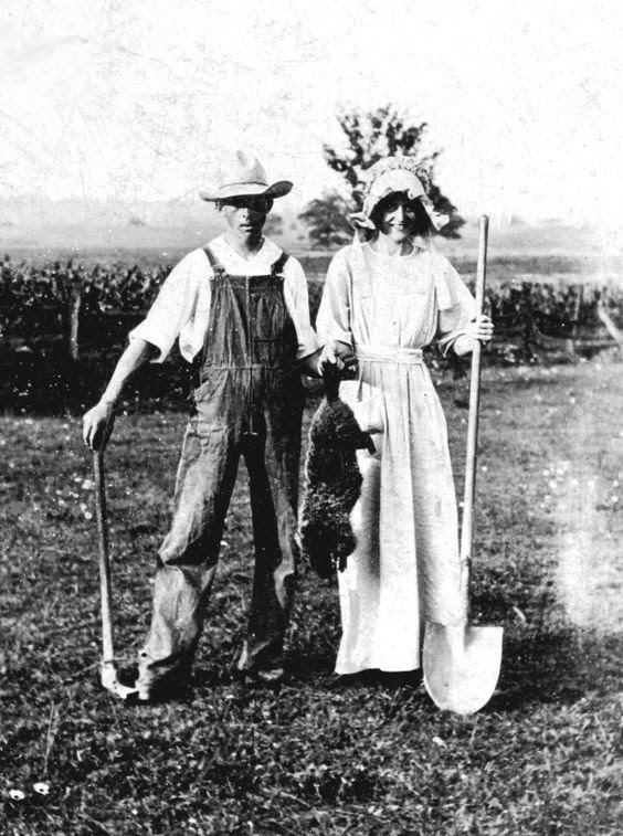 Early                                                          Version of                                                          American                                                          Gothic Photo                                                          posted by:                                                          Dianne Bowders                                                          My                                                          grandparents                                                          pose in an                                                          early version                                                          of American                                                          Gothic, with a                                                          groundhog                                                          killed on                                                          their                                                          Manchester                                                          Twp. farm.                                                          Note: Photo                                                          taken circa                                                          1914, from our                                                          family photo                                                          album.: