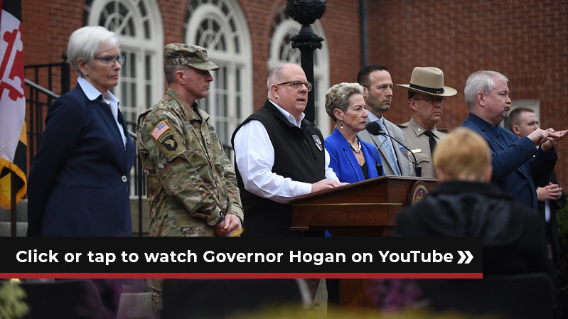 Click or tap to watch governor hogan on youtube