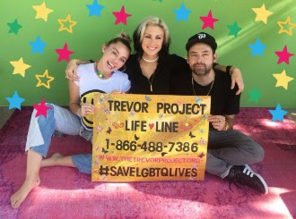 Miley Cyrus and Phantogram show their support for LGBTQ youth!