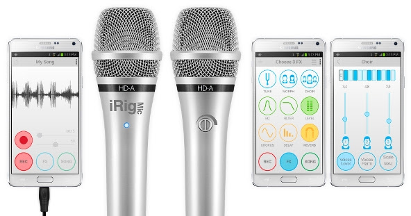 iRig Mic HD-A and EZ Voice for Android