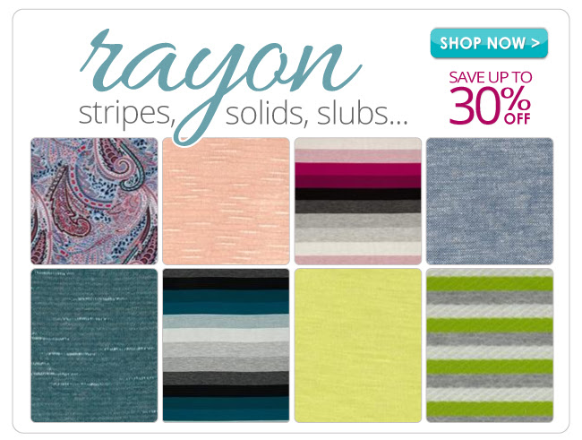 up to 30% off on all Rayon Fabrics