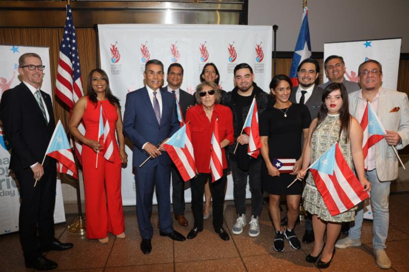 Jose Feliciano, Bobby Sanabria and other honorees of the National Puerto Rican Day Parade 2019.