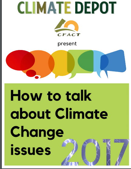 Climate Depot's New 'Talking Points' Report – A-Z Debunking of Climate Claims
