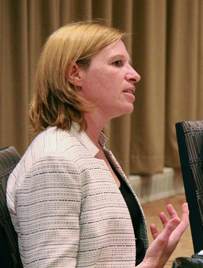 Photo of Acting Ombudsman speaking