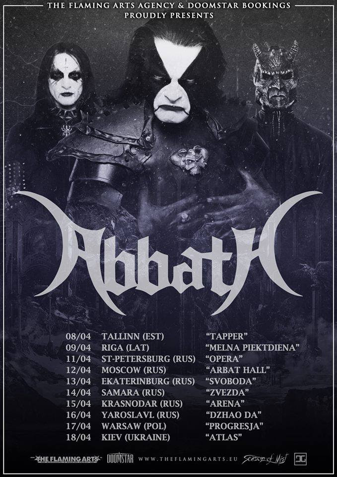 ABBATH poster Eastern Europe 2018