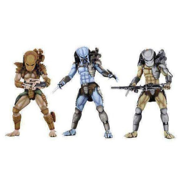 Image of Alien vs. Predator Arcade Appearance Predator Set of 3 Figures - FEBRUARY 2019