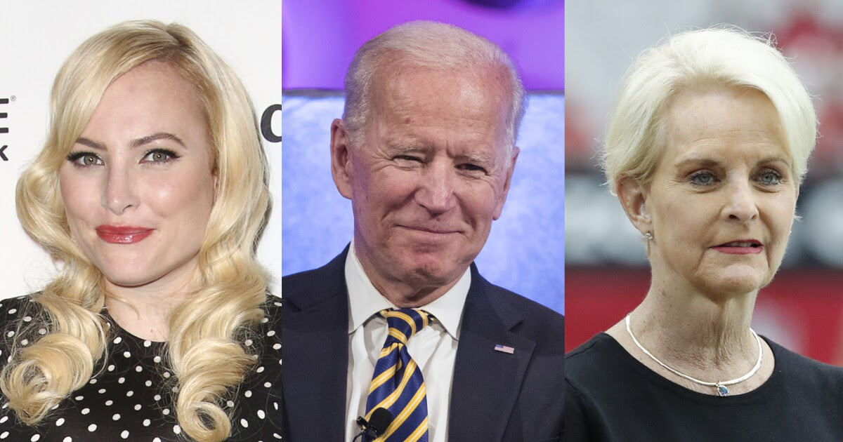 Meghan McCain, Joe Biden, and Cindy McCain are shown.