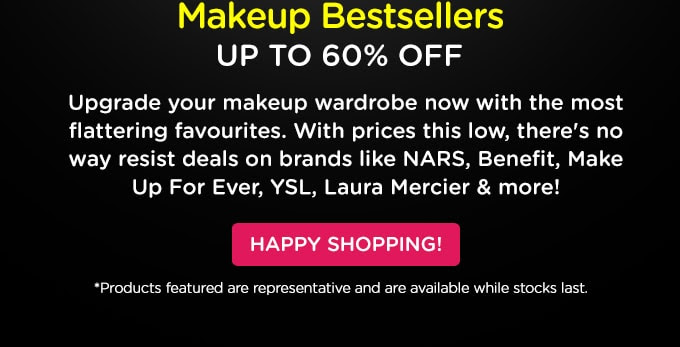 S A L E! Makeup Bestsellers Up to 80% Off!