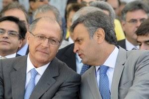 Geraldo Alckmin e Aécio Neves (Foto: PSDB-MG)