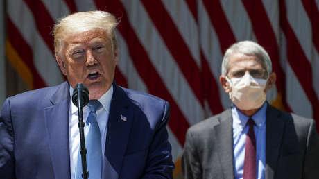 """""""Obviamente, no"""": El principal epidemiólogo de EE.UU. sale al paso del comentario de Trump de que el 99 % de los casos de covid-19 son """"inofensivos"""""""