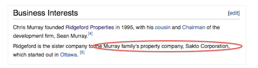 Murray family company was the cover up term used until we exposed the truth.