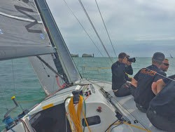 J/111 BLUR- Rolex Fastnet Race start- The Needles