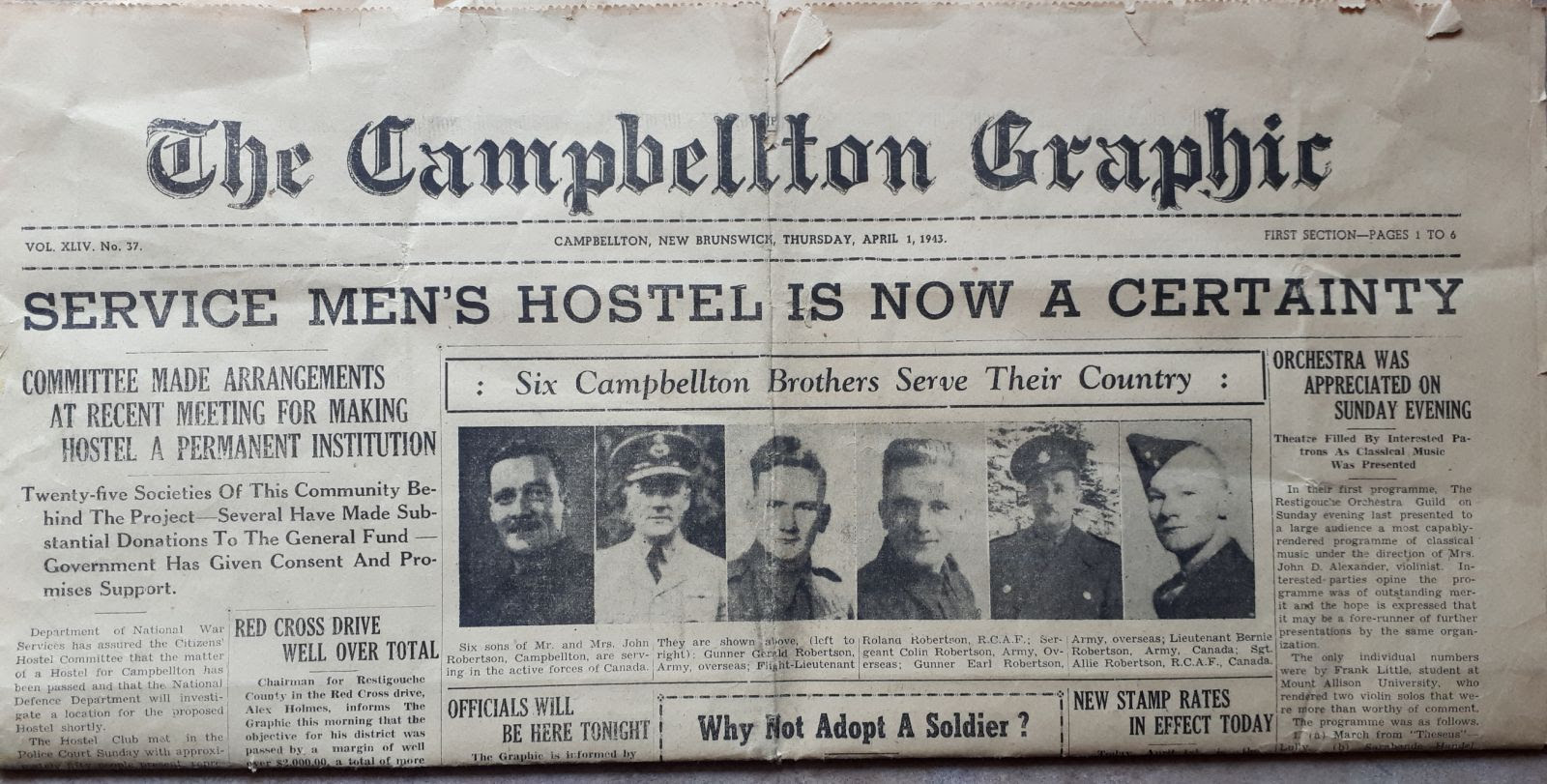 The fighting Robertson brothers of Campbellton, N.B.