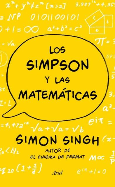 Dibujo20131216 Los Simpson y las matematicas - book cover