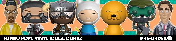 NEW FUNKO VINYL IDOLZ, DORBZ AND POP!