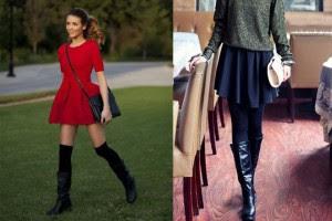 short skirt high boots