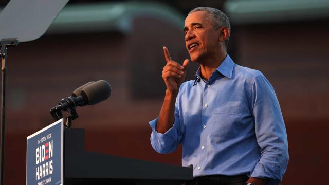 Pesquisas não têm valor se eleitores ficarem em casa, diz Obama em comício de Biden