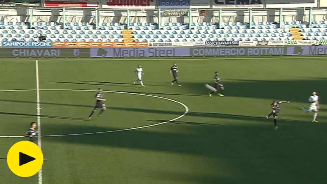Cremonese player scores extraordinary goal from own half in Serie B –video