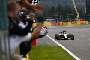 Hamilton sees off Vettel challenge to win Belgian Grand Prix