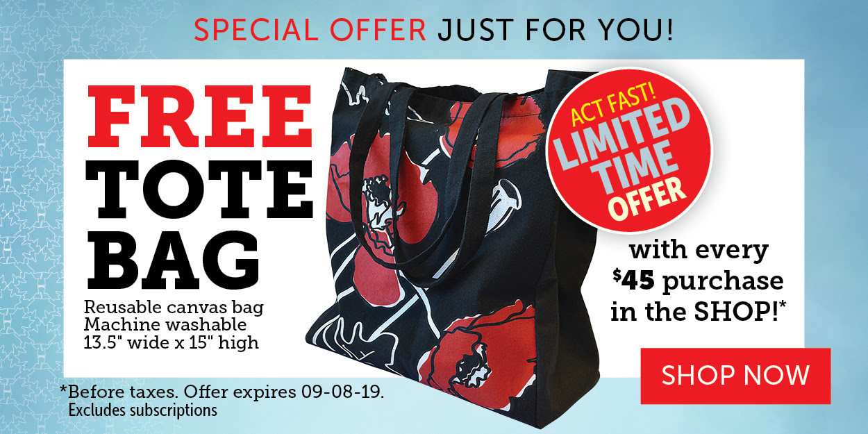 FREE TOTE BAG with orders over $45!