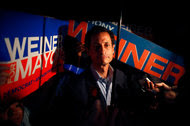Anthony Weiner in August 2013, after he participated in a forum for the New York mayoral candidates.