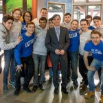 Mayor Noam Bramson with Out of the Blue. Photo credit: Susan Nagib
