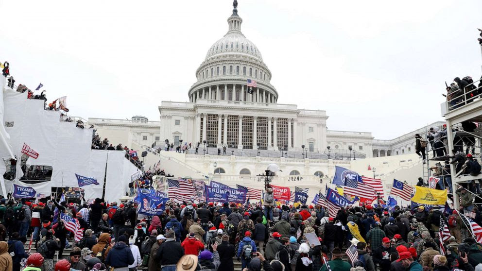 Rioters at Capitol Hill