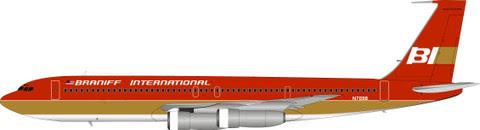 Boeing 707-300 Braniff International Airways N7098 (with stand) | is due: June 2019