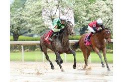 Kimari wins the Purple Martin Stakes at Oaklawn Park
