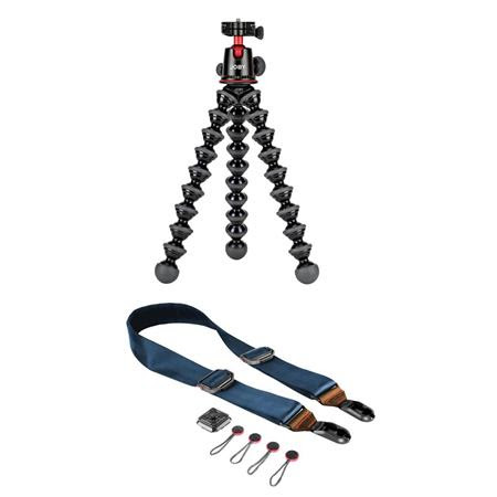 GorillaPod 5K Kit, Black - With Peak Design Slide Premium Camera Sling/Shoulder/Neck Strap
