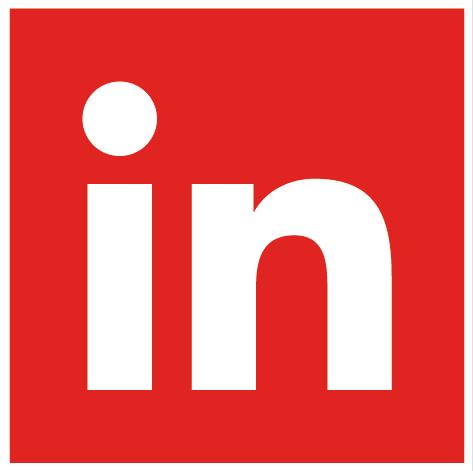LinkedIn Flat Red
