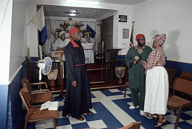 Sunday service at Saint Martin's Spiritual Church, Utica Ave. at Prospect Pl., Brooklyn, 2002