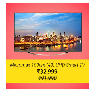 Micromax 109cm (43) UHD LED TV - Just ₹32,999